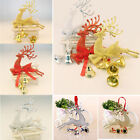 Reindeer Christmas Tree Hanging Ornament Party Xmas Decor Bauble Deer With Bell