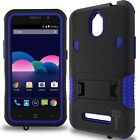 CoverON for ZTE Obsidian - Dual Layer Kickstand Hybid Armor Phone Cover Case