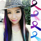 Gradient Color Women Long Straight Synthetic Clip in on Hair Extensions Piece