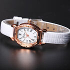 Fashion Lady Women Slim Leather Girl Roman Dial Strap Dress Wrist Quartz Watch
