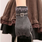 2015 Fashion Touch One Pair Women Screen Lace Cotton Winter Warm Gloves Cute