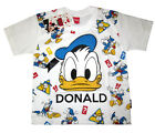 MICKEY MOUSE & FRIENDS 'DONALD DUCK' cotton t-shirt S-XL Age 4-9 yrs Free Ship