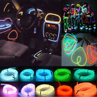 1/2/3/4/5M Flexible Led EL Tube Wire Neon Glow Decor Light Inverter Party Car