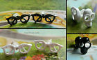 NOVELTY EARRINGS PIERCED EARS STUDS GLASSES BOWS LIPSTICK SPECTACLES SKULLS