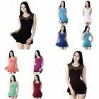 Fashion Womens Casual Waist Peplum Sleeveless Slim Shirt T-shirt Blouse Tops