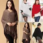 Hot Fashion Ladies Women's Knitted Sweater Top Check Pullover Shawl Sweater N4U8