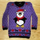 Super Ugly Christmas Sweater New! Funny Penguin Small
