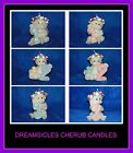 NEW DREAMSICLES CHERUB/ANGELS BIRTHDAY CANDLES, YOU PICK FROM AGES 1-3
