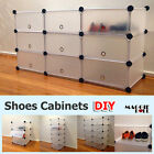 DIY Shoes Cabinet with door Storage Shelves Rack Toy Wardrobe Space Organizer