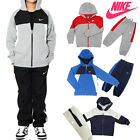 Nike Boys Youth TrackSuit Junior Fleece Top Bottom Hooded Hoodie Zip Perfromance