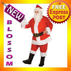 C633 Budget Complete Santa Claus Suit Clause Christmas Adult Costume + Wig Beard
