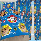 """Paw Patrol Single Rotary Duvet and Matching Curtains Set 54"""" 72"""" Drop"""