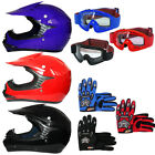 LEOPARD Kids Junior Motorcycle Motocross Helmet Crash Quad Enduro Red Blue Black