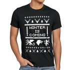 8-Bit Winter is coming Herren T-Shirt throne stark game lennister of got schnee