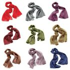 Large Thin Metallic Look Sheer Fashion Neck Head Scarf Polyester - Accessories