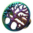 316L Unisex Men Women Hollow Out Rainbow Tree of  Life Finger Biker Ring Jewelry