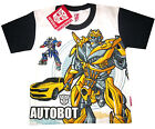 BUMBLEBEE TRANSFORMERS AUTOBOTS boys cotton t-shirt Size S-XL 4-9y Free Ship