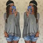 Summer Women Casual Tops Long Sleeve Vest Blouse Tank Tops T-Shirt Lace Tees New