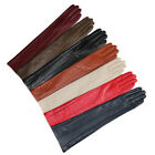 """47cm(18.5"""")long long lines style top goat leather gloves multi colors"""