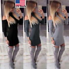 Women Winter Off Shoulder Long Sleeve Sweater Classic Cozy Knit Jumper Sweater