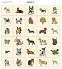 DOGS. CARD machine embroidery design  jef files for janome 300e animals pets