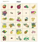 FRUIT. CD or USB machine embroidery designs files most formats pes jef hus etc
