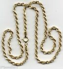 "real 9ct 375 yellow gold twist rope chain NEW 7.25""  16""  18""  20""  22"""