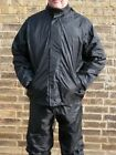 Waterproof Raincoat Rain Wear Over Jacket Motorbike Motorcycle Bike Unisex Black