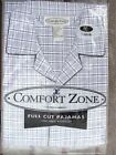 MENS PAJAMAS/PJS~SZ LARGE~COMFORT ZONE~NEW IN PKG~CHOICE of 2 PATTERNS FREE SHIP