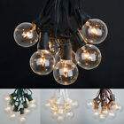 100 ft Outdoor Globe Patio String Lights - 75 Sockets - 90 Clear Edison Bulbs
