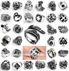 316L Stainless Steel Punk Men's Finger Ring Band Rock Heavy Biker Fashion Rock