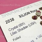GENUINE Swarovski Lilac Shadow (LISH) Crystal Glass Iron on Hot fix Rhinestones