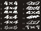 4x4 decals fits Dodge Ram bedside 12 styles 16 colors $9.54 USD