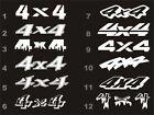 4x4 decals fits Dodge Ram bedside 12 styles 15 colors $10.6 USD