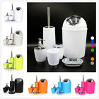 6 Piece Bathroom Accessory Set Bin Soap Dish Dispenser Tumbler Toothbrush Holder