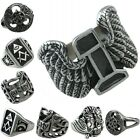 Men Women' s 316L Stainless Steel Celtic Knot/Skull Head/Lucky NO.7 Biker Ring