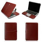 "PU Leather Laptop Back Case Cover Skin for MacBook 12"" Pro 13/15"" Air 11/13""inch"