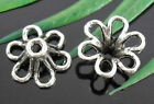wholesale 40/136Pcs Silver Plated Flowers Bead Caps 12x6mm (Lead-Free)