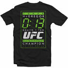 UFC Conor McGregor 13 Second TKO Mens Black T-shirt