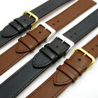 Comfortable Flexible Extra Long Leather Watch Band Buffalo grain 16mm - 22mm