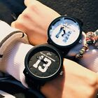 HOT Fashion Lovers' Casual Watches Mens Womens Leather Quartz Wrist Watch Gifts