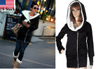 Women Winter warm Hooded Oblique Zipper Outerwear Long Hoodie Jacket Coat Пальто
