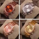 New Unisex Watch Wristwatch Crystal Rhinestone Stainless Steel Analog Quartz
