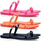 TORY BURCH Two Band Jelly Slide Sandals 7 8 9 Fluorescent Pink Poppy Coral Navy