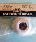 Size 80 Tatting Thread  White, Ecru, Red, Yellow, or Pink