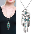 Fashion Bohemia Style Retro Tassel Dream Catcher Long Chain Necklace For Women T