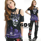 Freeship X LOLITA GOTHIC LACE SHIRT CUTE PUNK 010472 PURPLE S-M