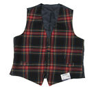 $375 Polo Ralph Lauren Mens Red Plaid Wool Slim Fit Italy Button Vest Jacket