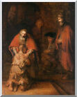 The Return of the Prodigal Son Rembrandt Van Rijn Stretched Christian Art Repro