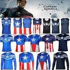 Captain America Marvel Costume Mens Cycling T-Shirts/Tee/Vest Tank Tops Jersey